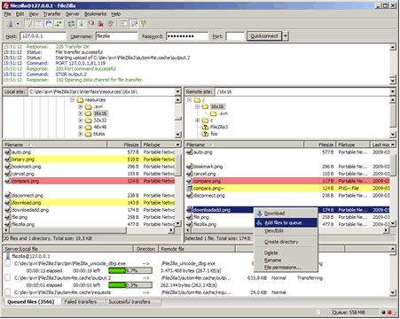 πρόγραμμα μεταφοράς αρχείων - FTP - Filezilla